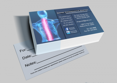 Chiropractic Business Cards